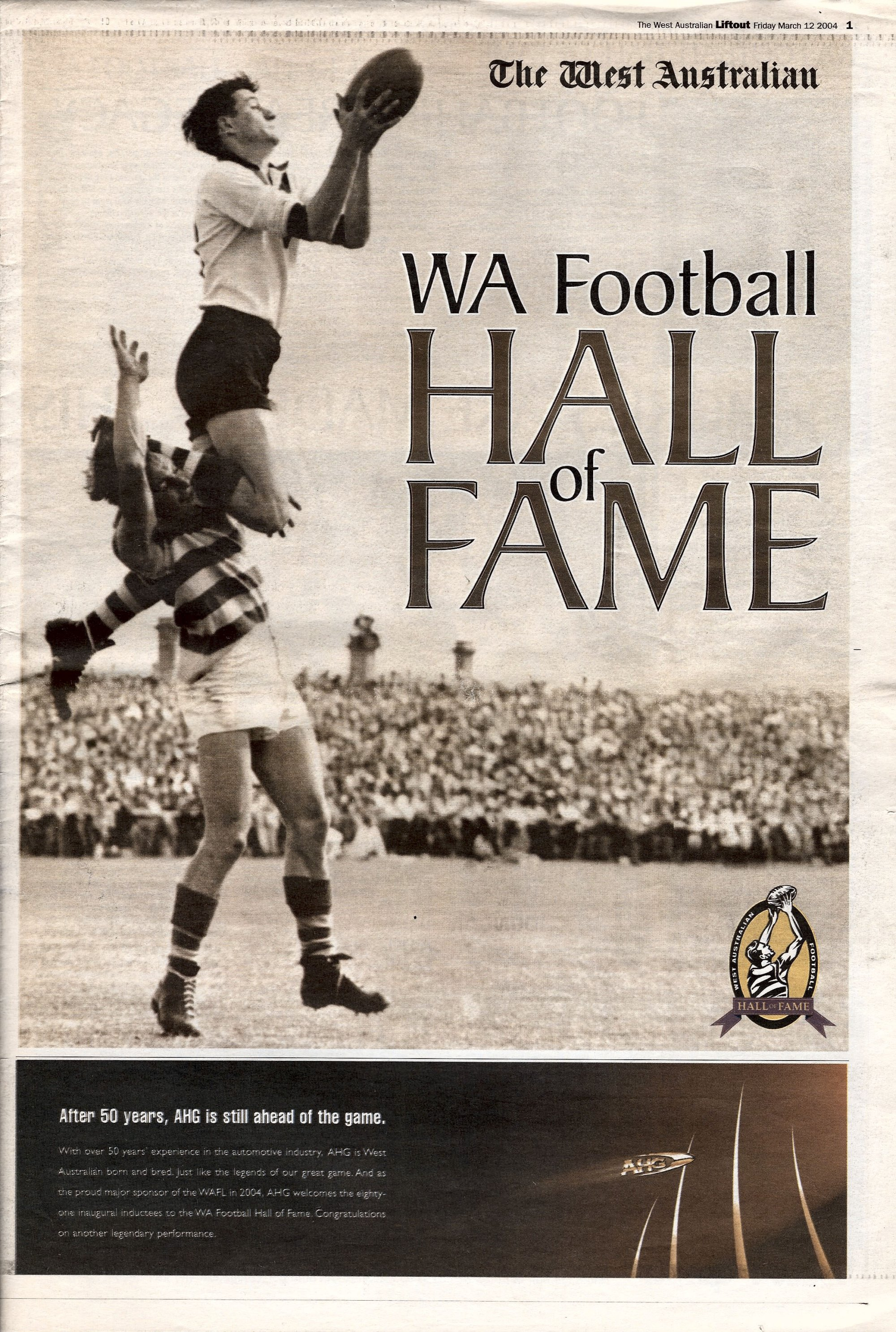 WAFL Hall of Fame cover